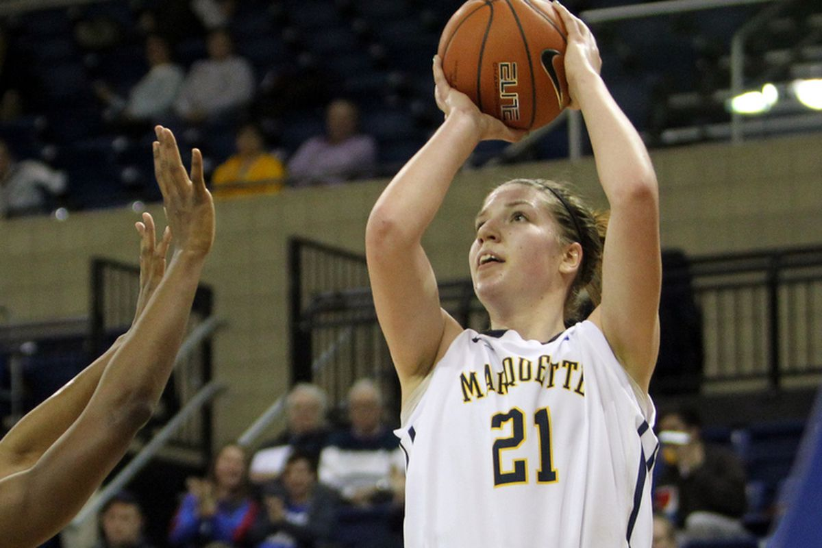 Katherine Plouffe was nearly perfect against Seton Hall, hitting 10 of her 12 shots from the field.