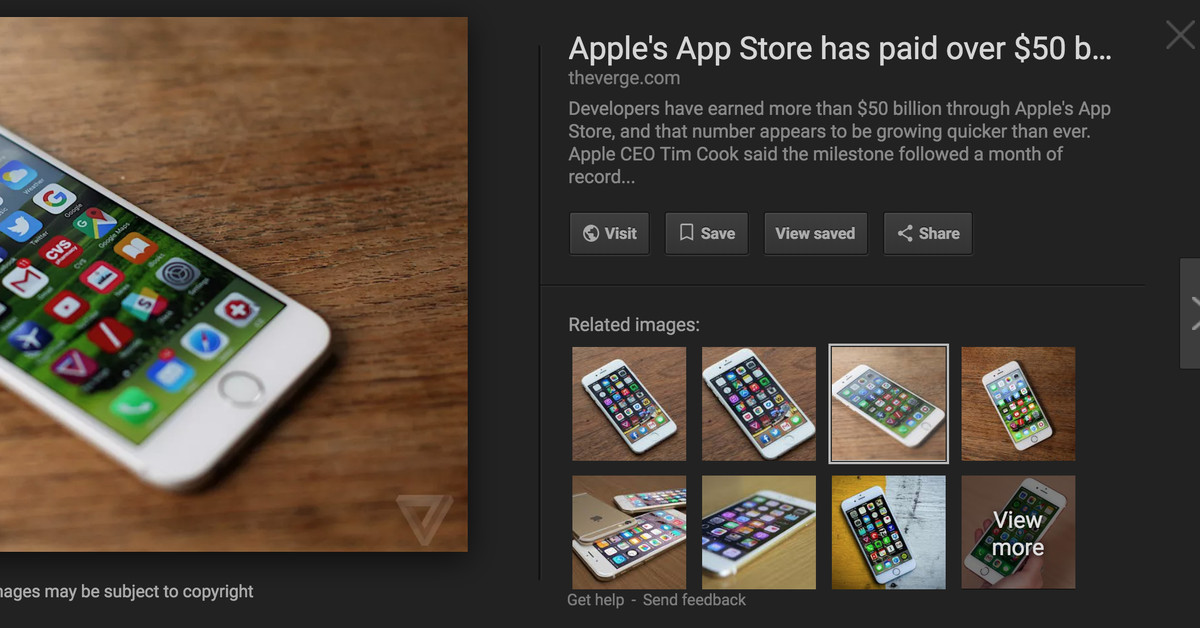 Google removes 'view image' button from search results to make pics harder to steal – The Verge