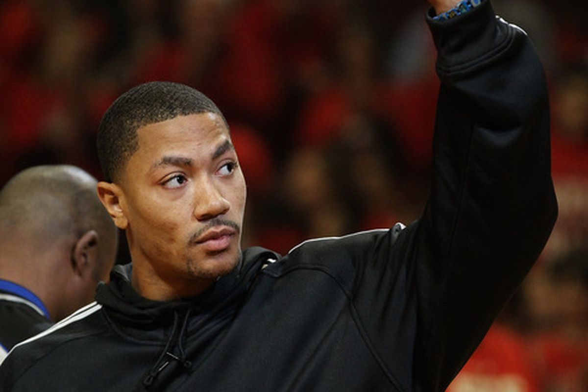 To be fair, you can't really tell how he's feeling considering he always has Derrick Rose Face (Photo by Jonathan Daniel/Getty Images)