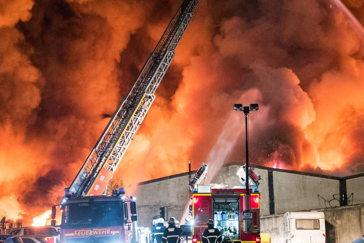 Major fire in Hamburg