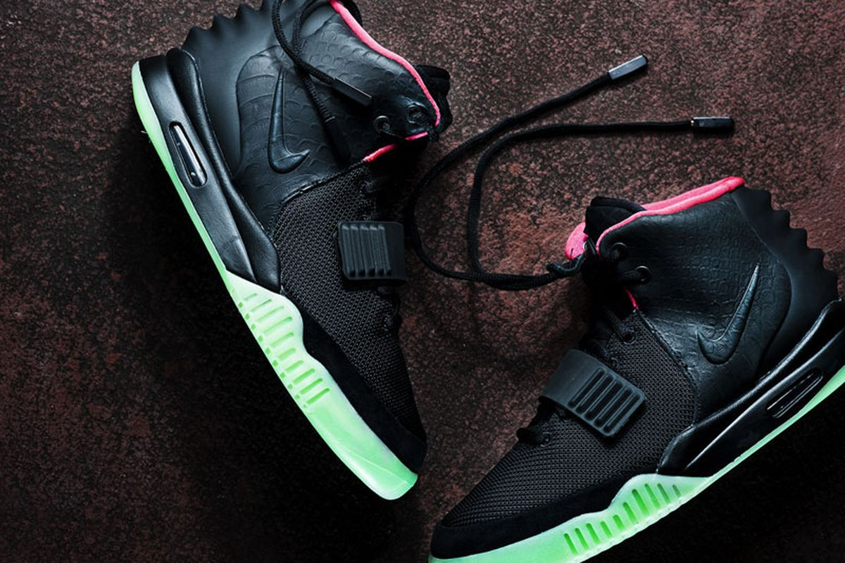 """Nike Air Yeezy 2. Image via <a href=""""http://solecollector.com/news/nike-air-yeezy-ii-2-black-solar-red/"""">Sole Collector</a>."""