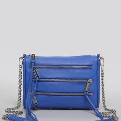 A Rebecca Minkoff five-zip mini crossbody bag, $195.