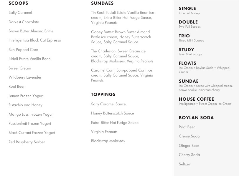 Jeni's scoop shops menu