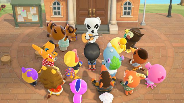 K.K. Slider performs in front of a large audience
