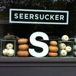 """The window of <a href=""""http://twitter.com/#!/seersuckerbklyn/status/125323323289780224"""" rel=""""nofollow"""">Seersucker</a> in Brooklyn."""