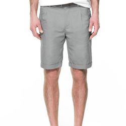 "<strong>Zara</strong> Ergonomic Bermuda short in Dark Grey, <a href=""http://www.zara.com/us/en/man/trousers/ergonomic-bermuda-shorts-with-belt-c437684p1050333.html"">$59.50</a>"