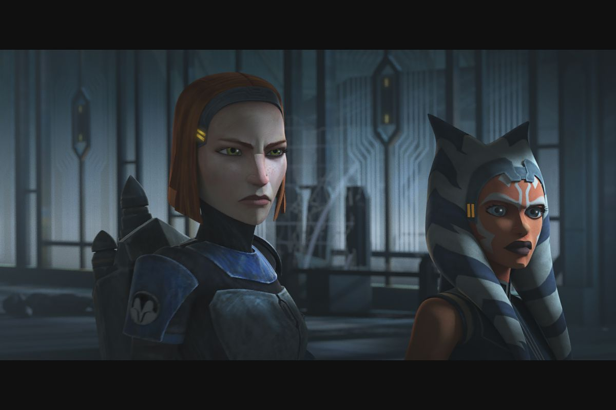 """Rex, Bo-Katan, Ahsoka and their forces prepare to confront Maul in """"Star Wars: The Clone Wars."""""""