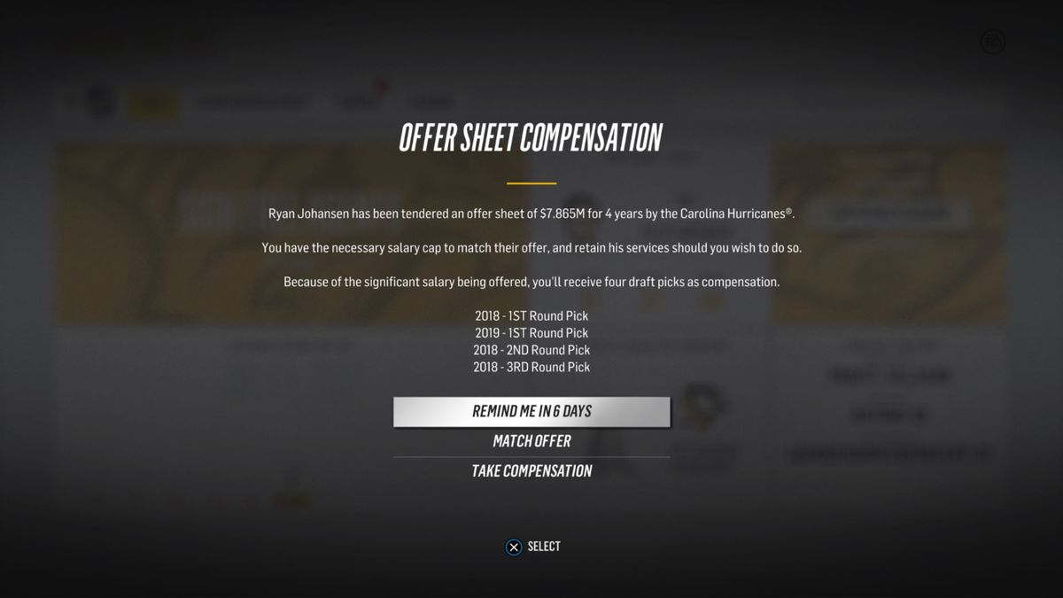 nhl offer sheet