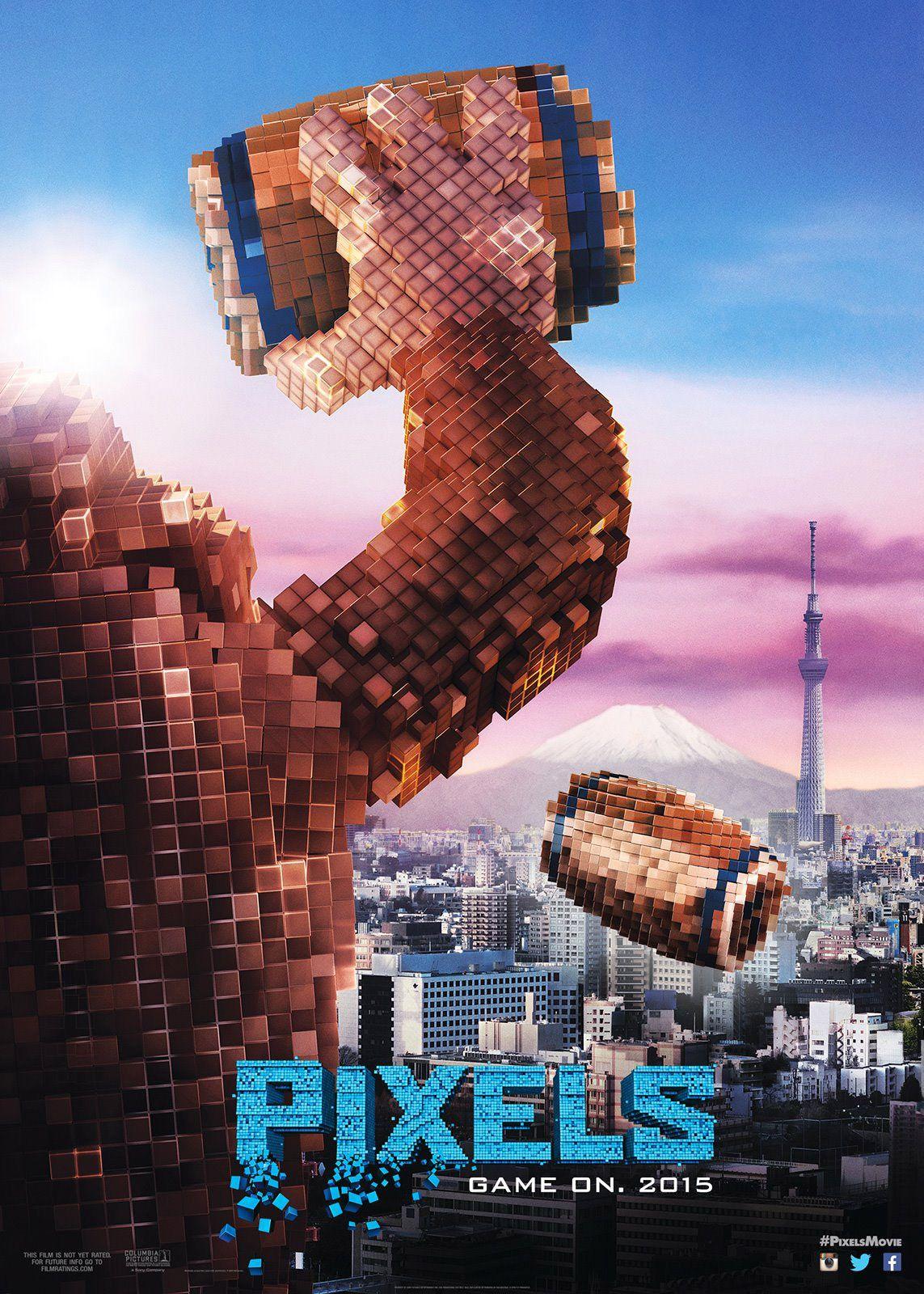 Pixels movie posters