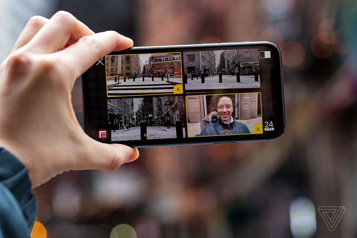 Filmic Doubletake Lets You Record From Two Iphone Cameras At The Same Time The Verge