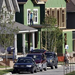 New housing construction is seen in the Briar Chapel community near Chapel Hill, N.C., Monday.