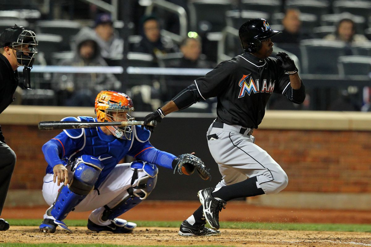 Having players like Juan Pierre in the lineup certainly is not helping the Marlins' power outage at the start of 2013.