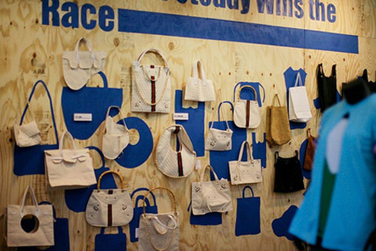 """Bags from Slow and Steady Wins the Race.  Image via <a href=""""http://www.flickr.com/photos/space15twenty/sets/72157617876920147/"""">CSpace 15 Twenty</a>/Flickr"""