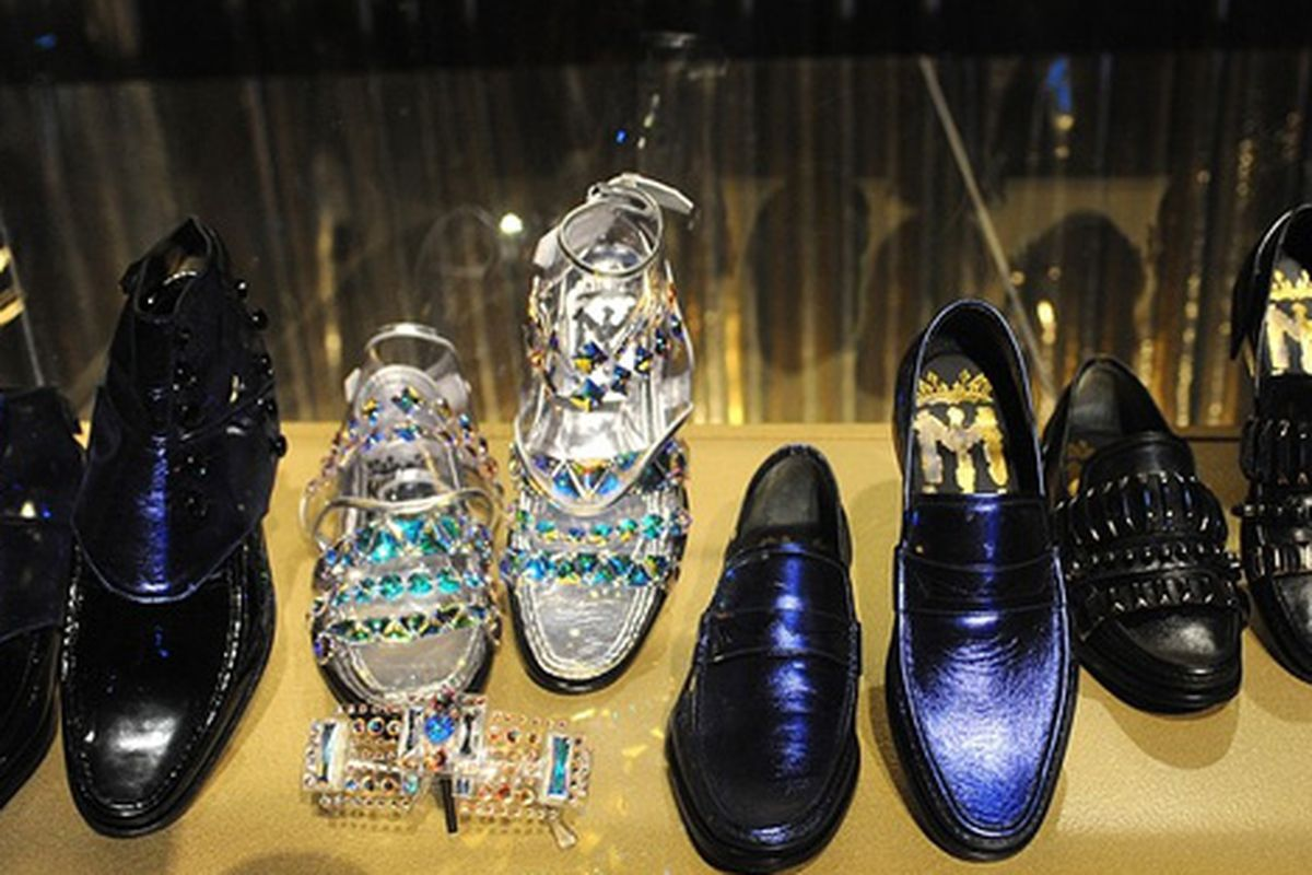 """These  are probably the most subtle items on display at the Michael Jackson exhibit at O2 Arena. Image via <a href=""""http://online.wsj.com/article/SB10001424052748704335904574497583432220284.html"""">Wall Street Journal</a>"""