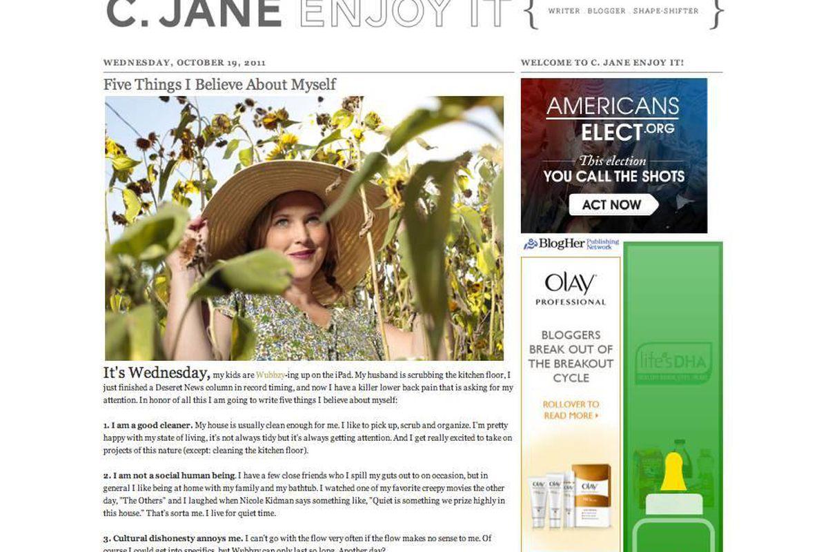 C. Jane Kendrick blogs at blog.cjanerun.com.