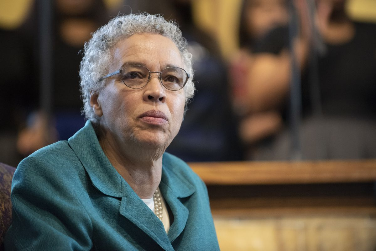 Cook County Board President Toni Preckwinkle in March.
