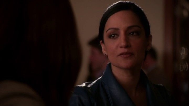 Kalinda looks at Alicia on The Good Wife.