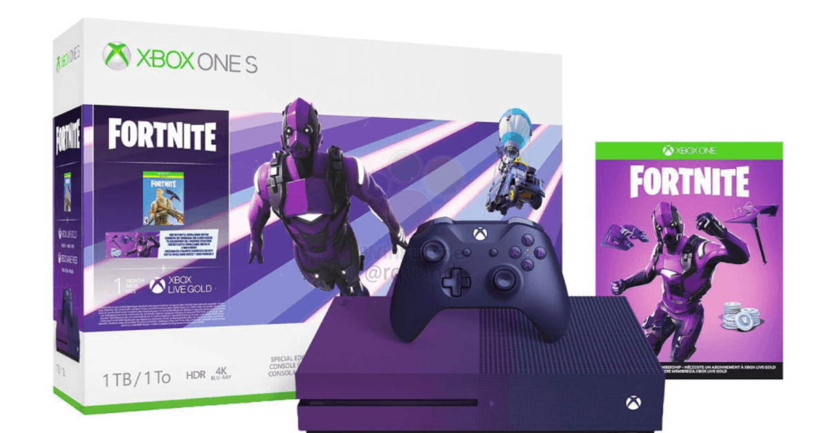 Leaked images reveal Microsoft's purple Xbox One S for Fortnite fans