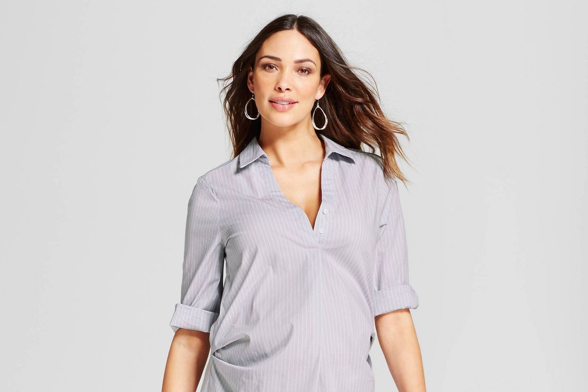Targets new maternity clothes look nothing like maternity striped pleated popover 2499 ombrellifo Images