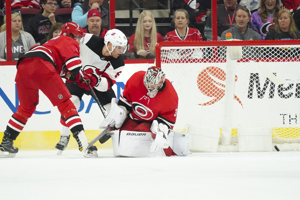 6716f242 Hall is the OT Hero Again as New Jersey Devils Salvaged 3-2 Win at Carolina  Hurricanes