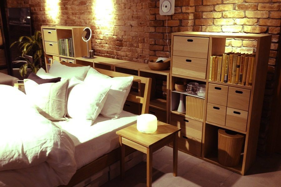 muji cooper square has everything from teacups to towels racked ny. Black Bedroom Furniture Sets. Home Design Ideas