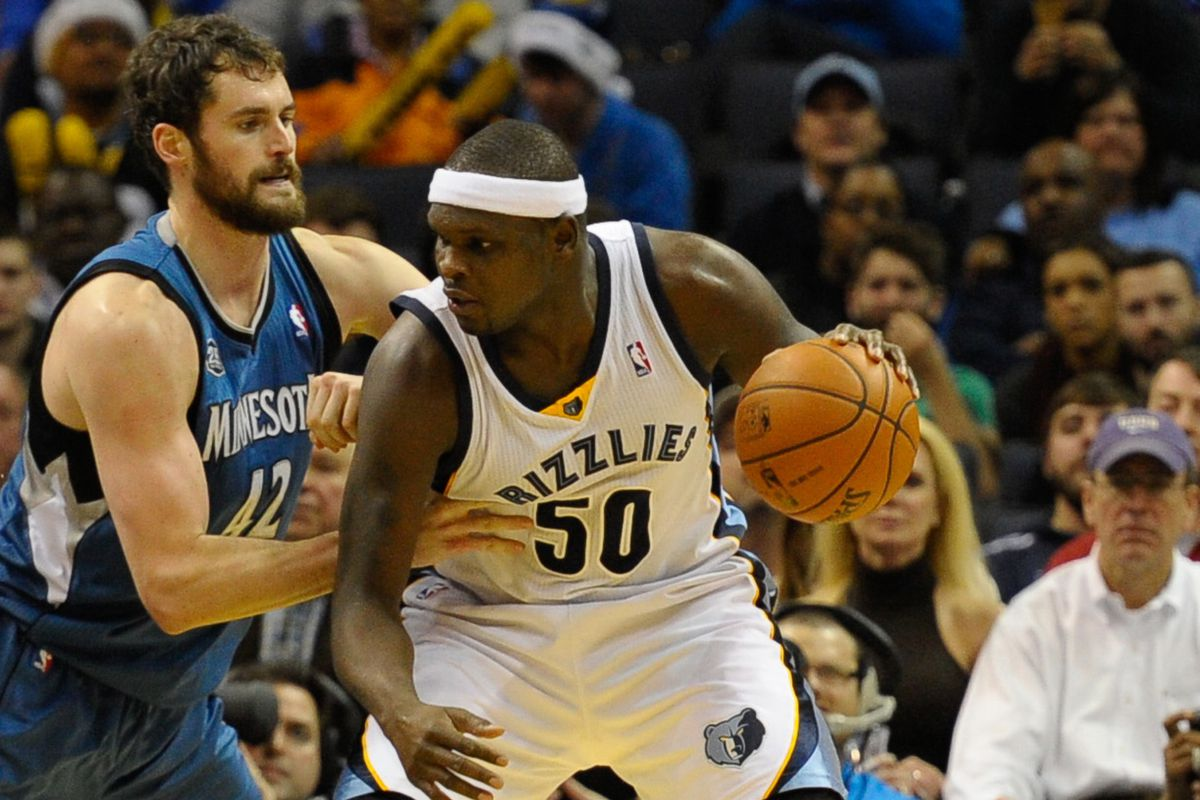 Kevin Love in Beale Street Blue likely means no Z-Bo in Memphis...