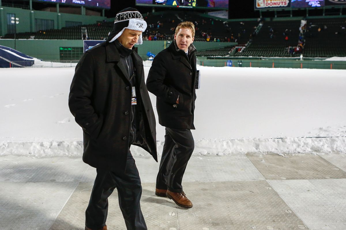 Jamie Russell (left) with Providence head coach Nate Leaman (right).