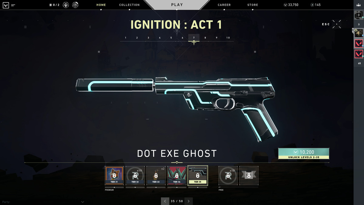 Valorant's Dot Exe Ghost skin