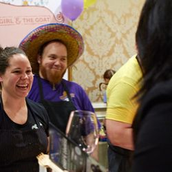 Stephanie Izard and Goat sous chef Jan Rickerl