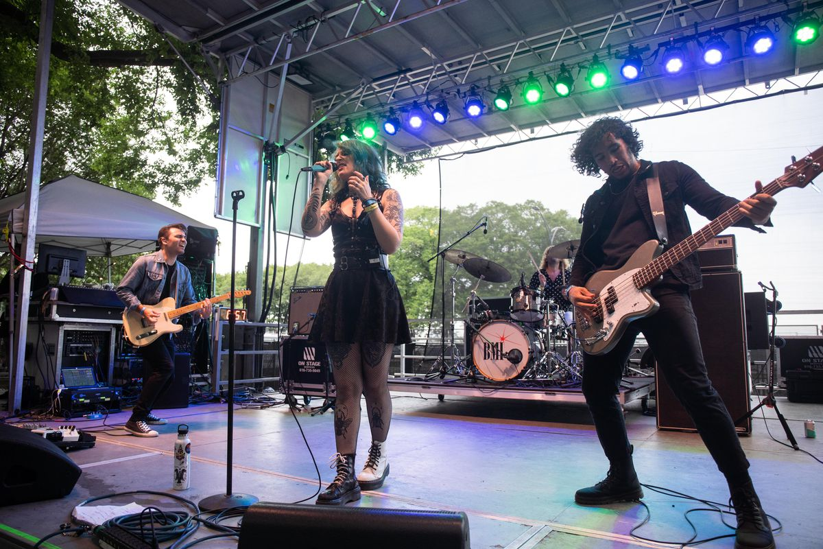 Mothica performs on the BMI stage Friday evening.