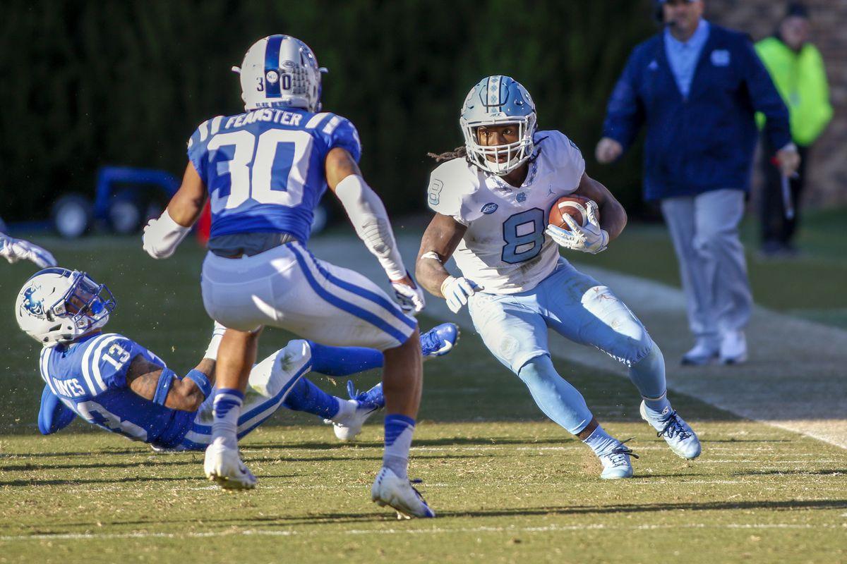UNC football vs. Duke - Player of the Game: Michael Carter - Tar Heel Blog