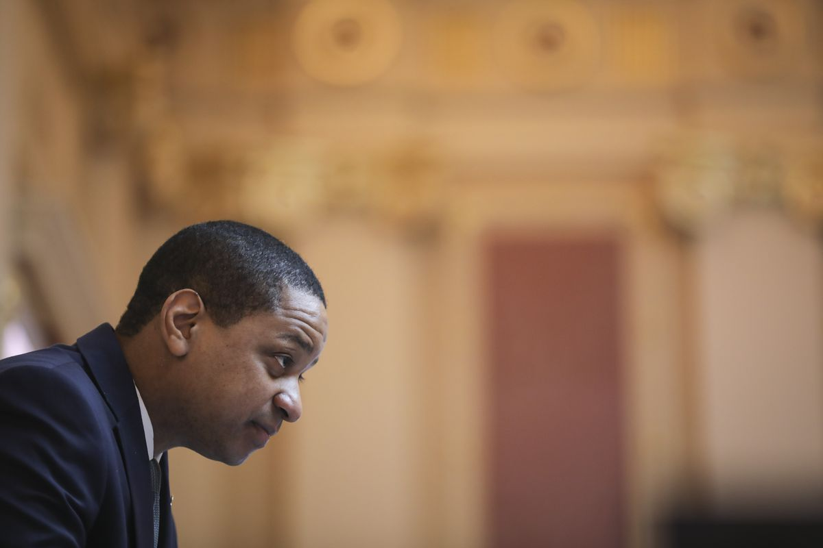 Virginia Lt. Governor Justin Fairfax presides over the Senate at the Virginia State Capitol, February 7, 2019 in Richmond, Virginia