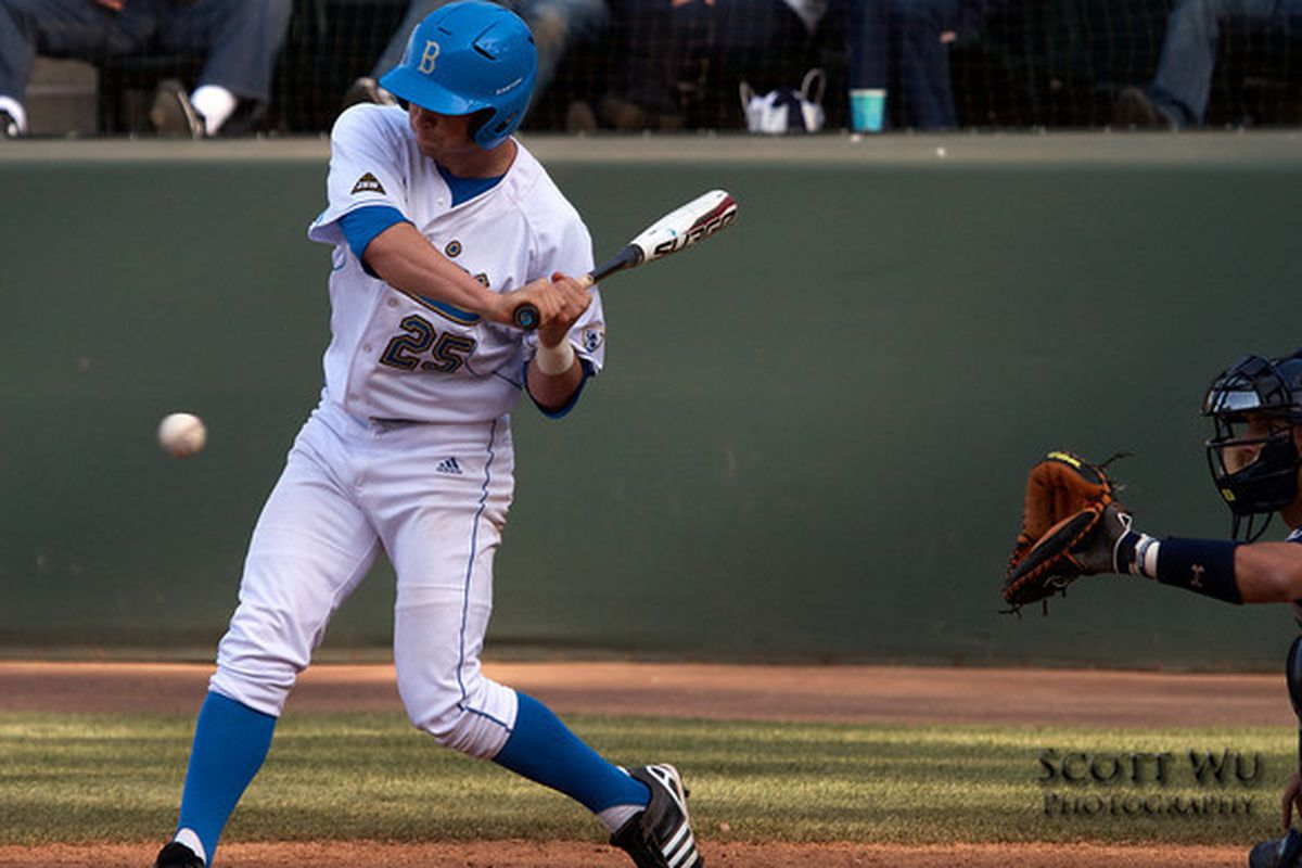 """Bruins will need Beau Amaral and his team-mates to stay hot with their bats this afternoon. (Photo Credit: <a href=""""http://www.scottwuphotography.com/"""" target=""""new"""">Scott Wu</a>)"""