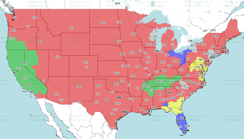 Western Florida Map.Jaguars Vs Ravens Week 3 Tv Viewing Map On Cbs Big Cat Country