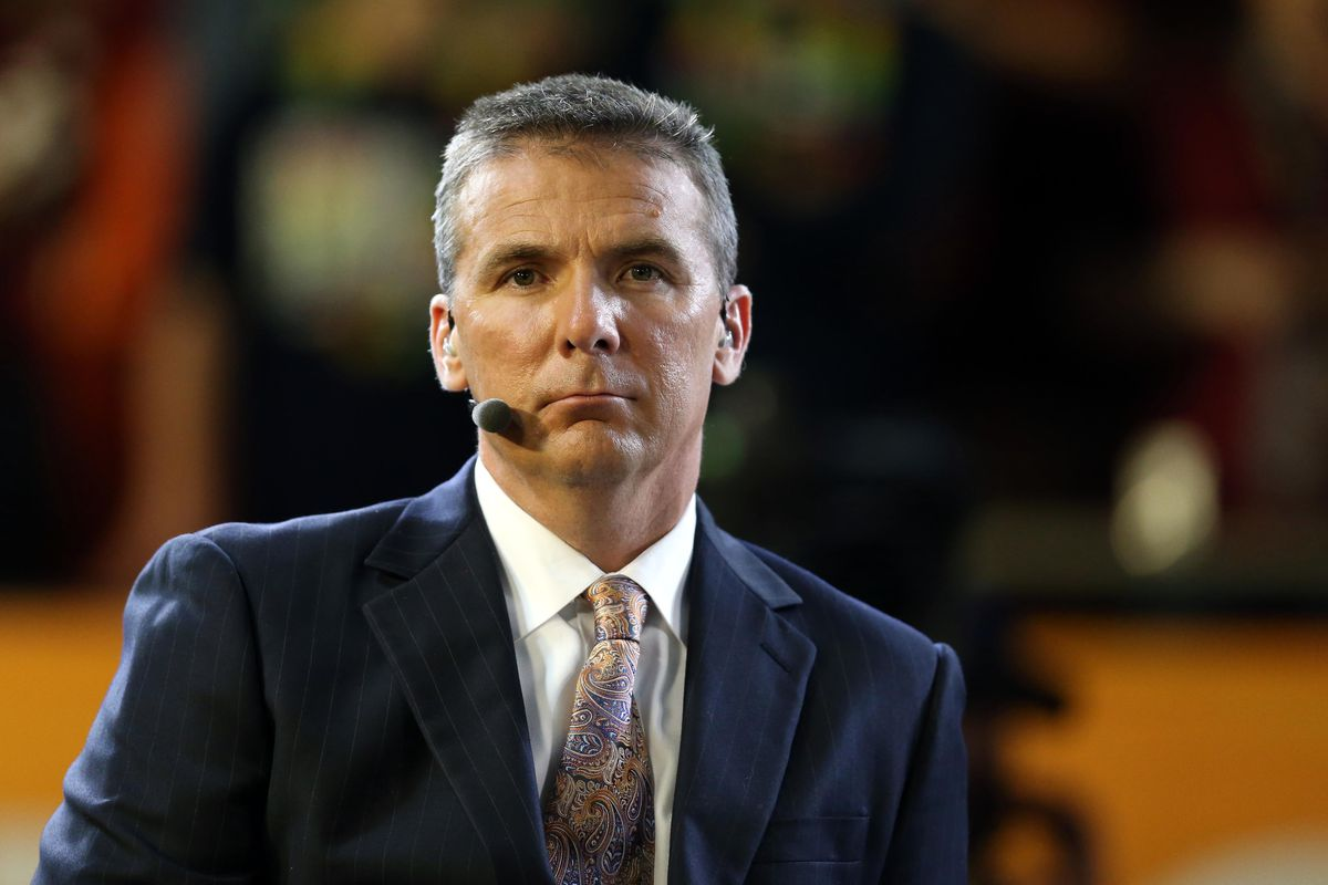 Urban Meyer, TV analyst, is excited about Ohio State finished third in the polls.