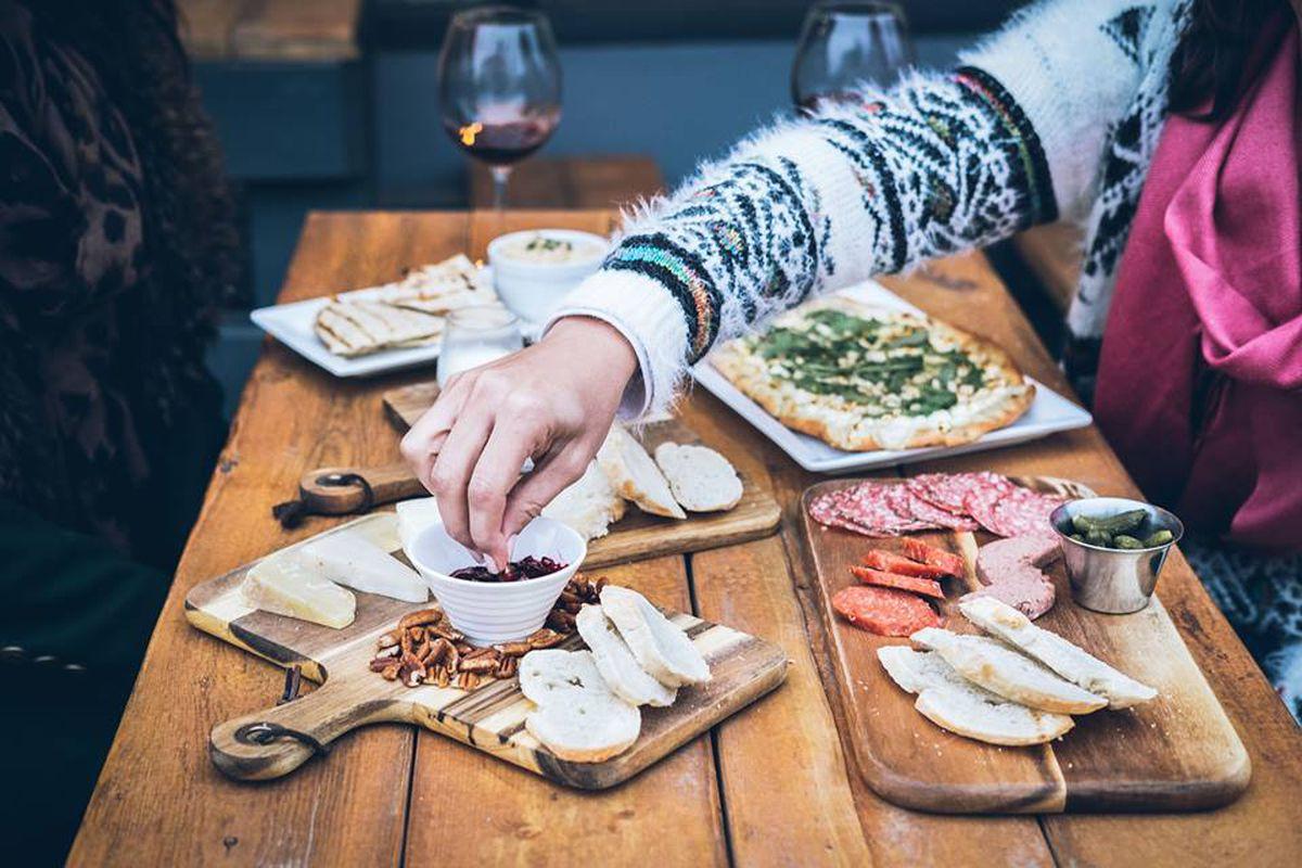 A spread from Auguste & Marcel Wine Bar