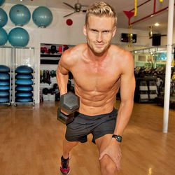 """<a href=""""http://la.racked.com/archives/2012/08/06/hottest_trainer_contestant_8_david_siik.php"""">David Siik</a> of Burn60, Barry's Bootcamp and Equinox"""
