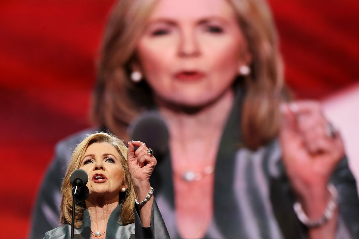 Rep. Marsha Blackburn speaking at the Republican National Convention in 2016