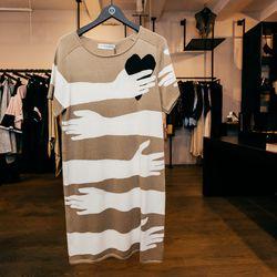 "Jean-Charles De Castelbajac Dress, <a href=""http://odd-style.com/womens/dresses/hands-top"">$605</a>"