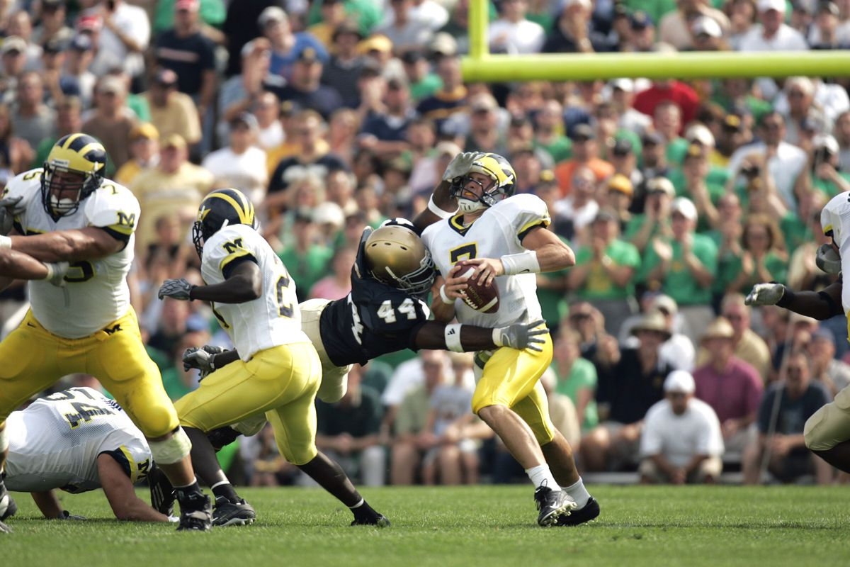 Michigan QB Chad Henne...