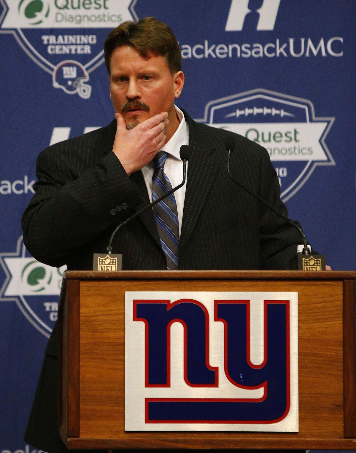 NFL: New York Giants-Ben McAdoo Press Conference