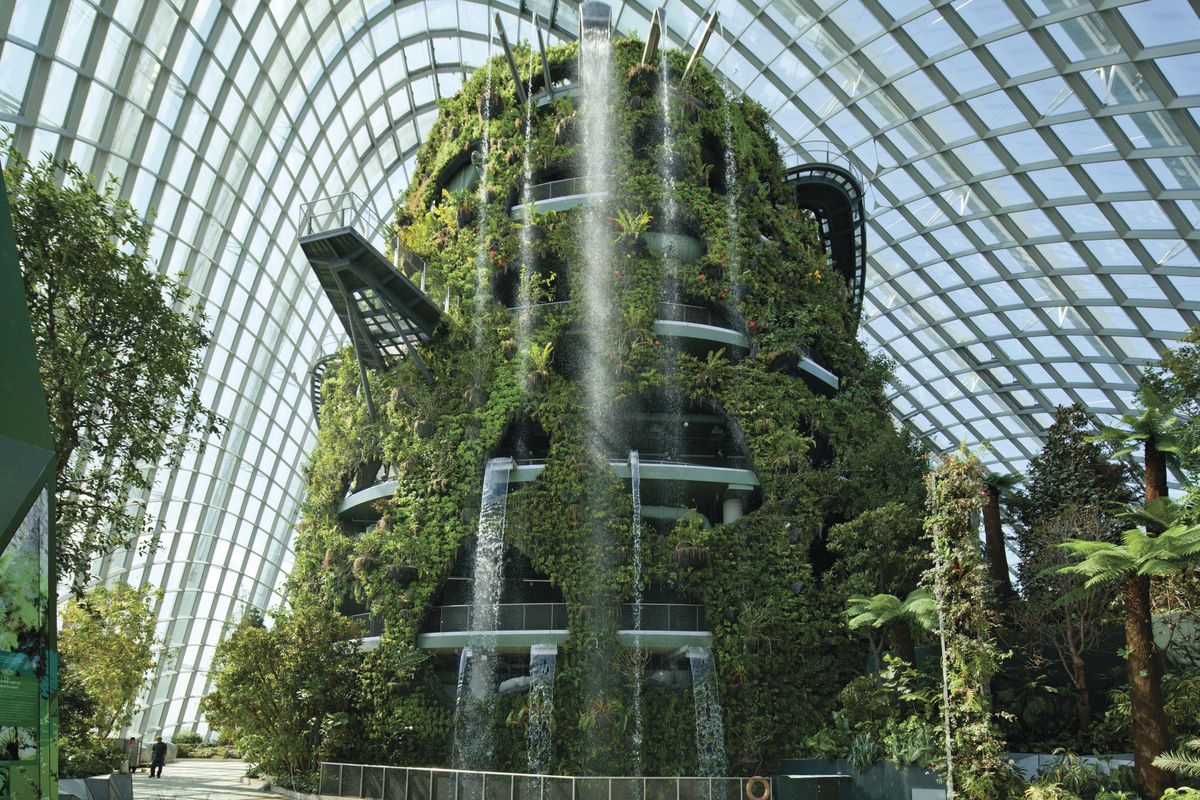 Interior of Gardens by the Bay in Singapore