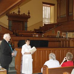 A tour inside the St. George Tabernacle in 2011.
