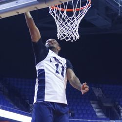 Ryan Boatright finishes off the layup.