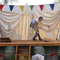 Trapdoors bring the stage alive, as in this scene with Puck (Kyle Oram) talking to dreams in 'A Midsummer Night's Dream.'
