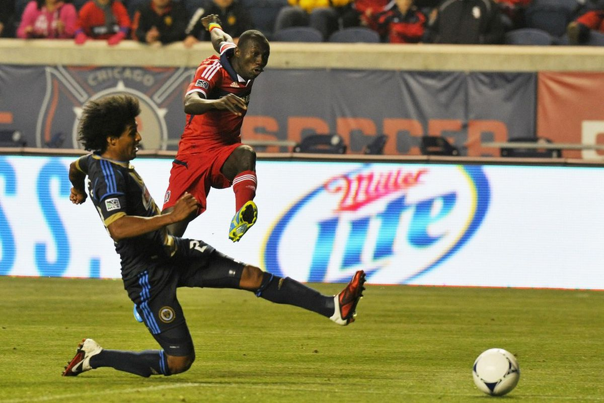 Dominic Oduro brought home 3 points in March.  Can he burn the Union again Sunday night?  Mandatory Credit: Mike DiNovo-US PRESSWIRE