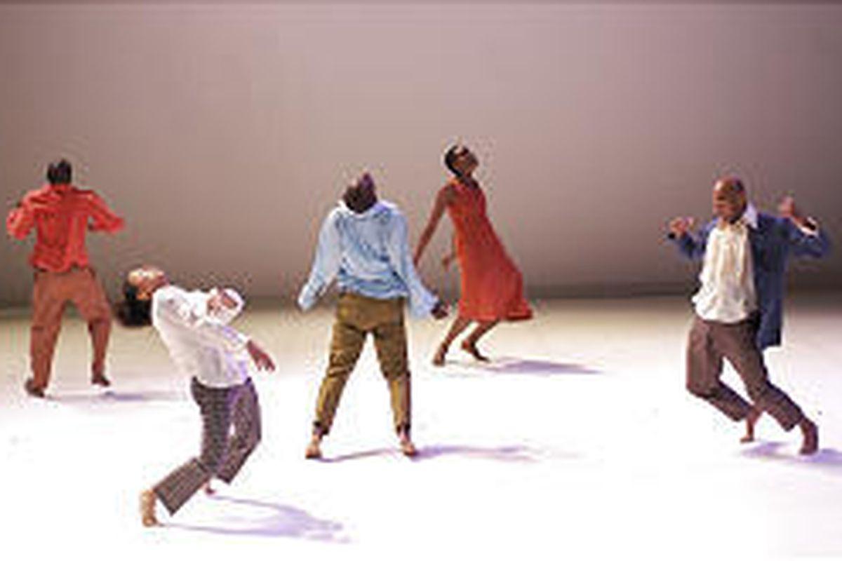 "Dancers perform Ralph Lemon's ""Come Home Charley Patton."""