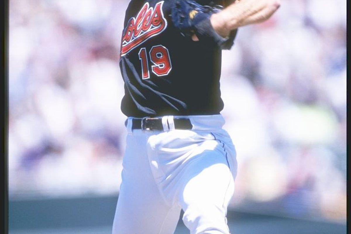 Scott Erickson, 11 May 1997,  Mandatory Credit: Doug Pensinger /Allsport
