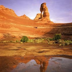 Delicate Arch, taken at sunset after a sudden rainstorm.