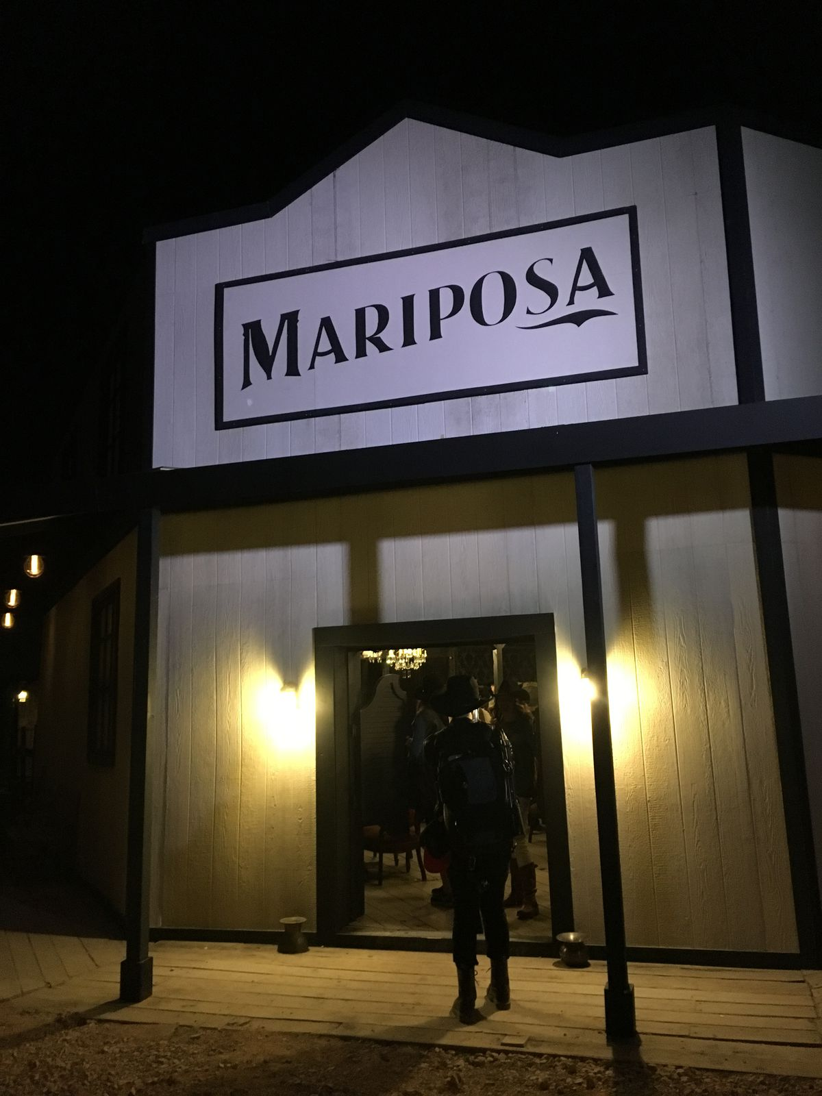 The entrance to the Mariposa Saloon